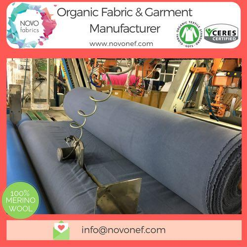 Organic Merino Wool Fleece Gots certified fabric blanket