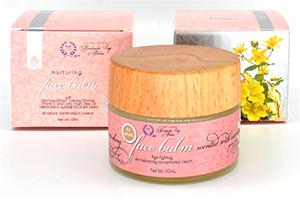Nurturing natural face cream balm - with Wild Rose Extract, Evening Primrose, Vitamin E and  Extra Virgin Olive Oil