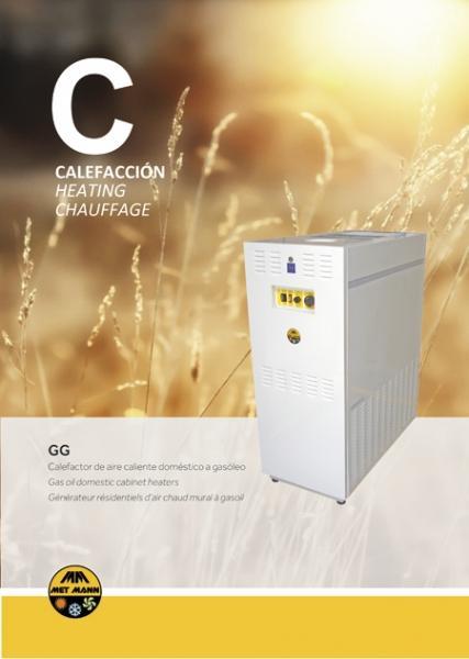 Calefacción doméstica de aire caliente a gasóleo 14-33 kW -  - caldera de aire caliente con funcionamiento a gasóleo
