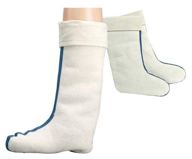 "6699 - ""Boot-Socks With Lambswool"" - Made of 100% lambswool. Your feet are kept warm in a natural way."