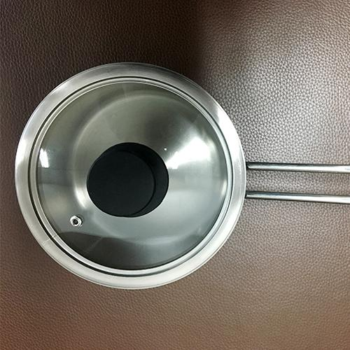 Olla de titanio - Pote de leche puro de titanio, sin recubrimiento, tamaño 6.3 pulgadas