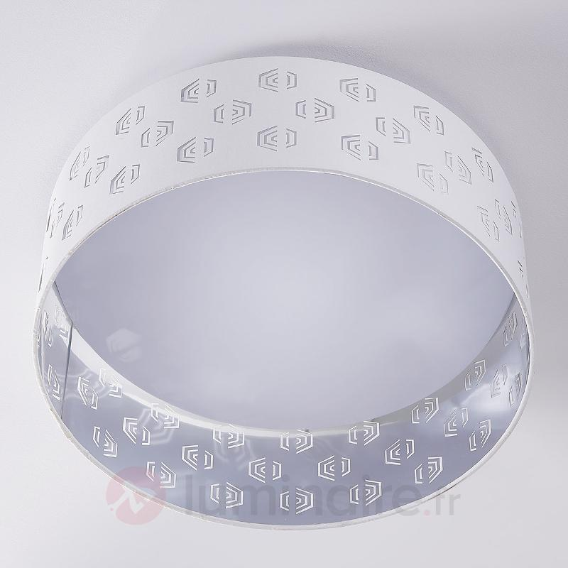 Plafonnier LED blanc Marsel ajouré - Plafonniers en tissu