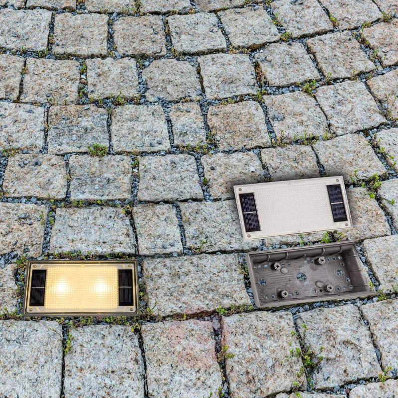 Solar Paving Stone with LED light, 19.4 cm - Recessed Floor Lights