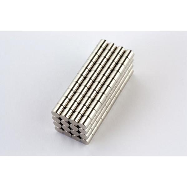 Neodymium disc magnet 4x4mm, N45, Ni-Cu-Ni, Nickel coated - Disc