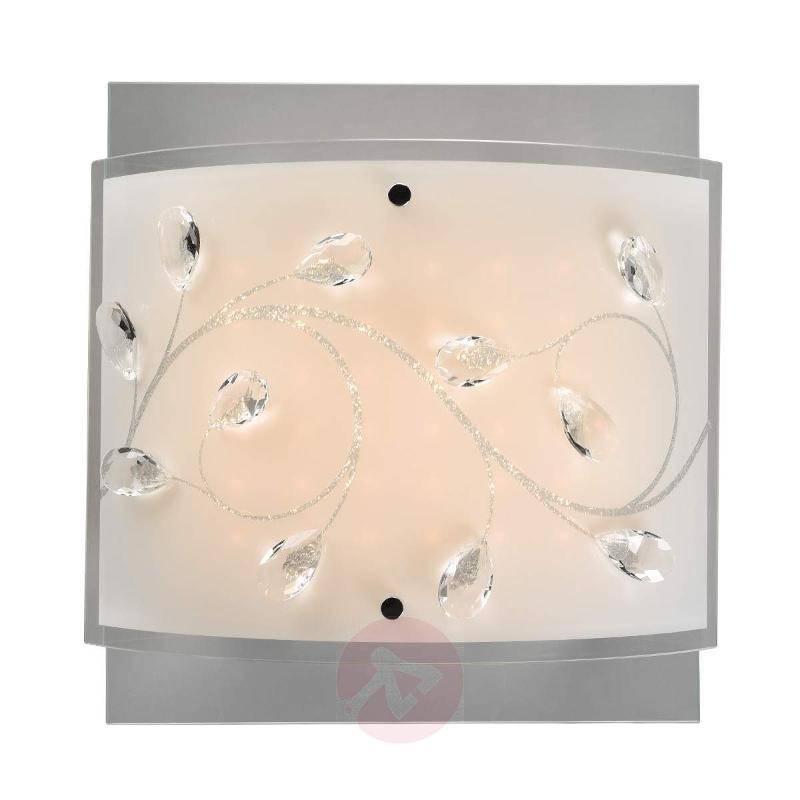 Lorena - LED ceiling light with glass lampshade - Ceiling Lights