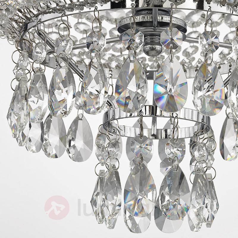 Suspension en cristal Casparia, chromé brillant - Suspensions en cristal