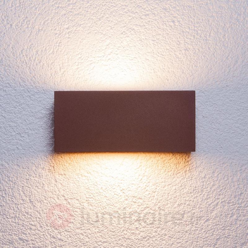Applique d'extérieur Bente carrée brun rouille - Toutes les appliques d'extérieur