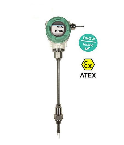 Durchflusssensor - VA 550 - Durchflusssensor mit ATEX-Zulassung für Druckluft und DVGW-Zulassung für Erdgas.