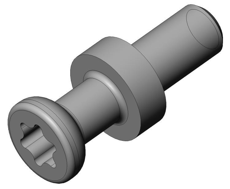Gewi.-bolzen M4 TX20 AZ 20/AZ 21 - Stahl gepresst - hell ver - Bolzen AZ 20/21 - AZ 2 (7 mm)