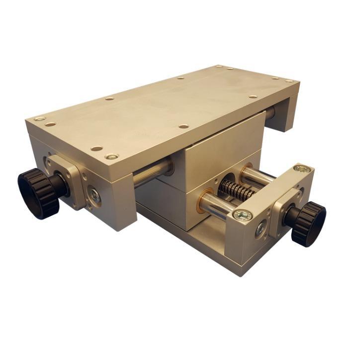 Table croisée de positionnement XY manuelle - Guidage à colonnes