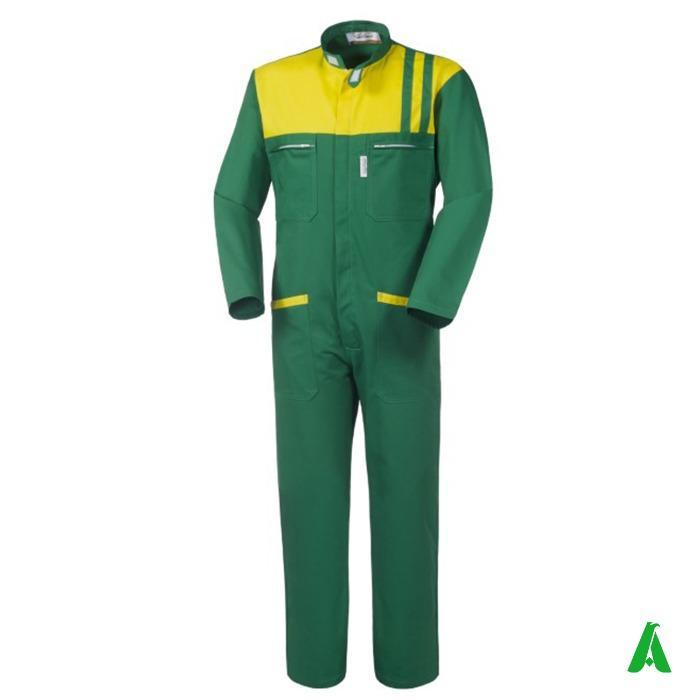 Tuta da lavoro colore verde per giardiniere - Tuta protettiva da lavoro colore verde per giardiniere