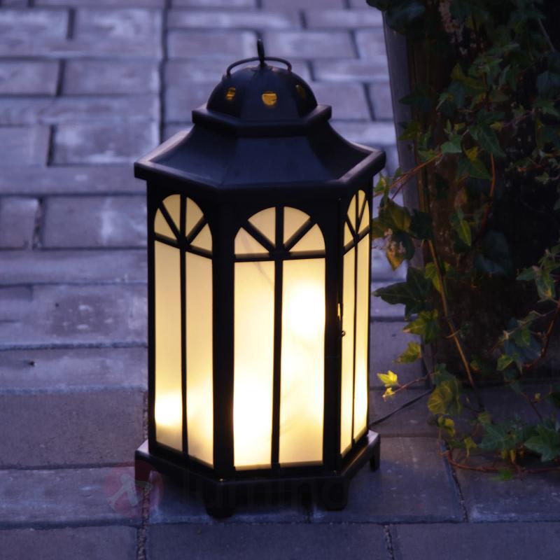 Lanterne de jardin noir Kantis avec 10 LED - Lampes décoratives d'extérieur