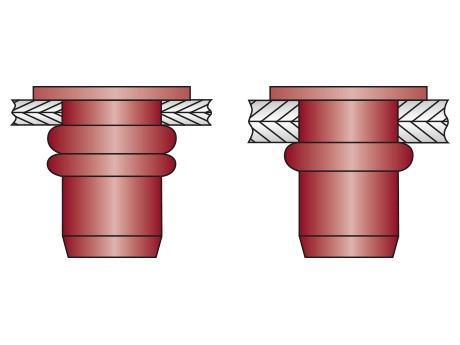 Écrous á sertir en aveugle OPTO -multi-serrage- - Écrous á sertir en aveugle multi serrage OPTO
