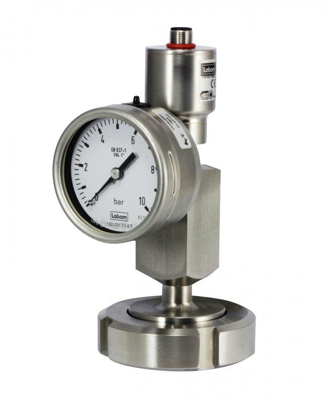 """""""Kombibar"""" Combined pressure measurement series - Combination of diaphragm seal technology with pressure transmitter and gauge"""