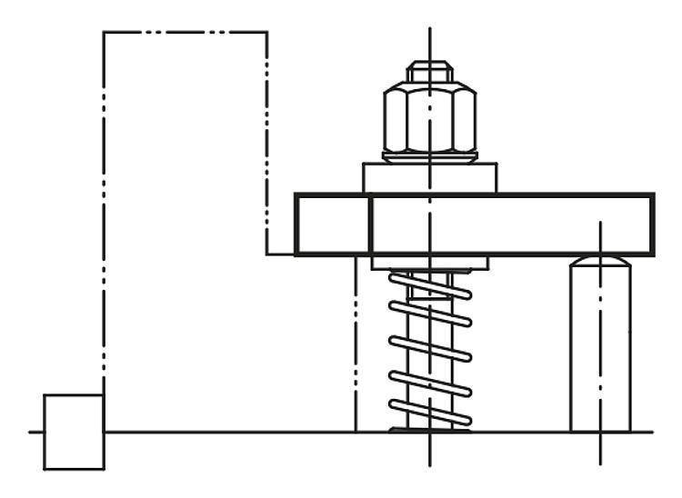 Bride droite acier et aluminium DIN 6314 - Bride étagée