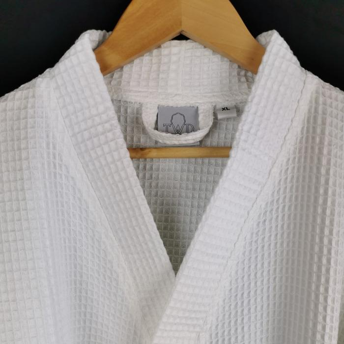 peignoir de bain hotel et spa - kimono nid d'abeilles polycoton