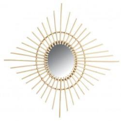 Miroir en rotin losange - Déco