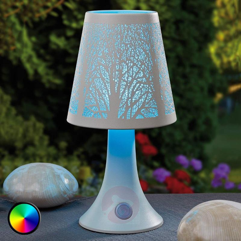 Tree structure LED table lamp w. colour change - Window Sill Lights