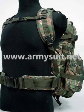 USMC Molle Assault Backpack Bag Digital Camo Woodland - PNS-BA26