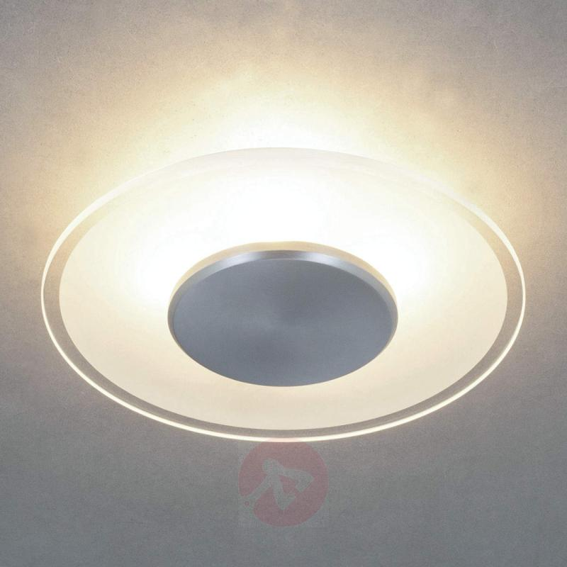 Dora glass ceiling light, partly-satinised shade - indoor-lighting