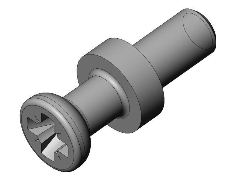 Gewi.-bolzen M4 AZ 20/AZ 21 - Stahl gepresst - hell verz. - Bolzen AZ 20/21 - AZ 2 (7 mm)