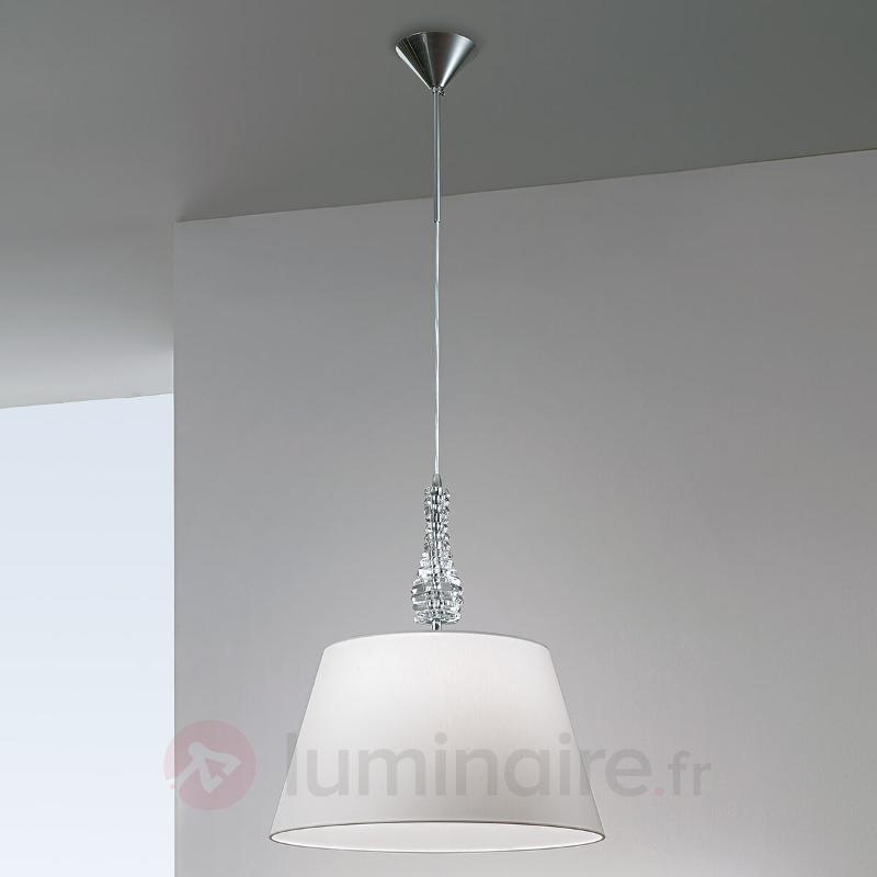 Grande suspension Crystal blanc - Suspensions en tissu