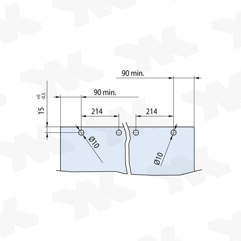 V-5100 - ceiling / wall, sliding door set - Metalglas