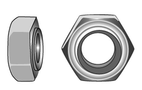 Sechskantmuttern, 1,5 d hoch, Form B - Material A2 | A4