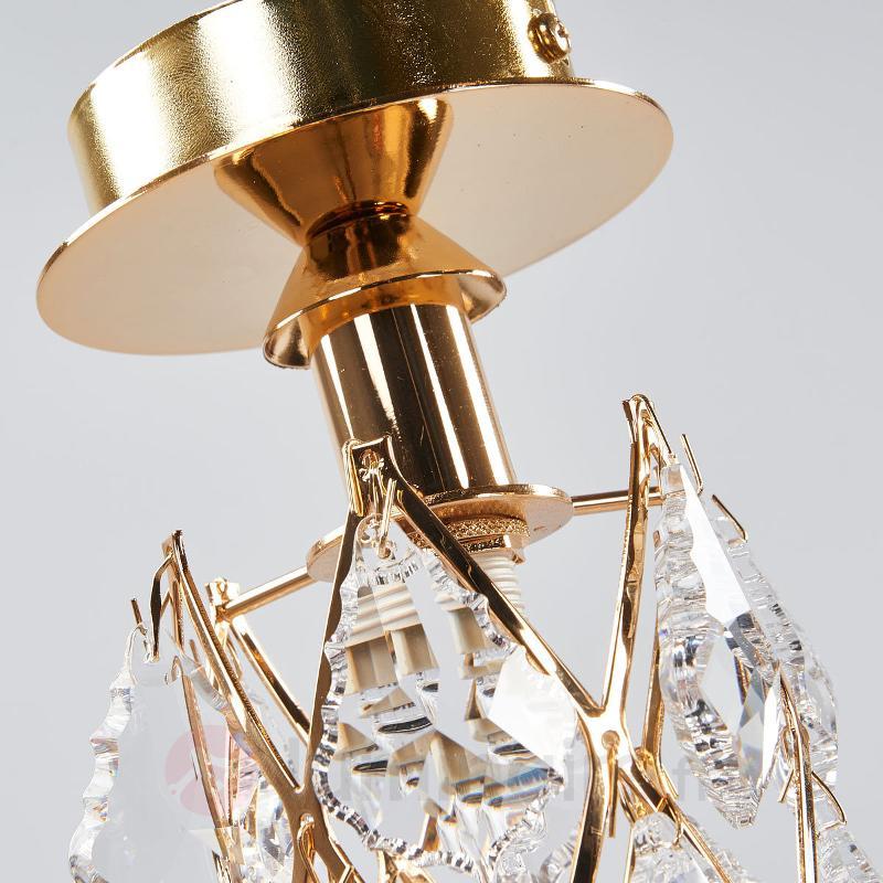 CHARLENE - plafonnier cristal doré - Plafonniers laiton/dorés