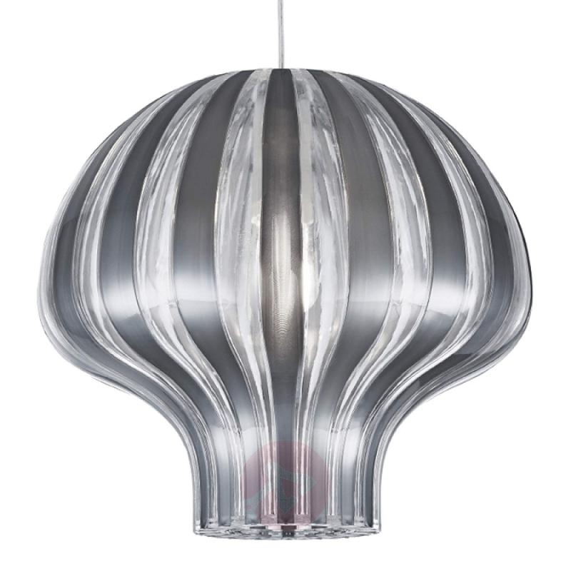 Silver and clear hanging light Pumpkin - indoor-lighting