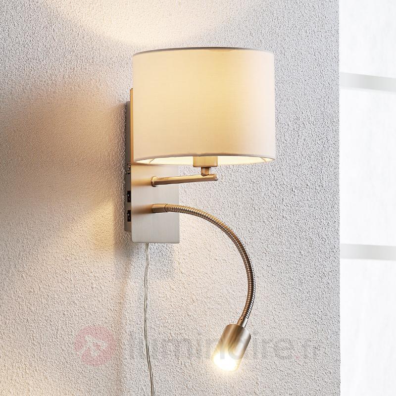Florens - applique textile avec liseuse LED - Appliques en tissu