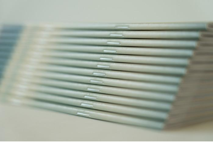 Square binding  - a type of binding where the perfect binding meets the saddle stitch binding.