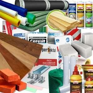 все виды строительных и отделочных материалов -