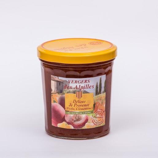 Vergers des Alpilles - Délices de Provence (Pêche, Clémentine)  - Confitures au sucre de canne
