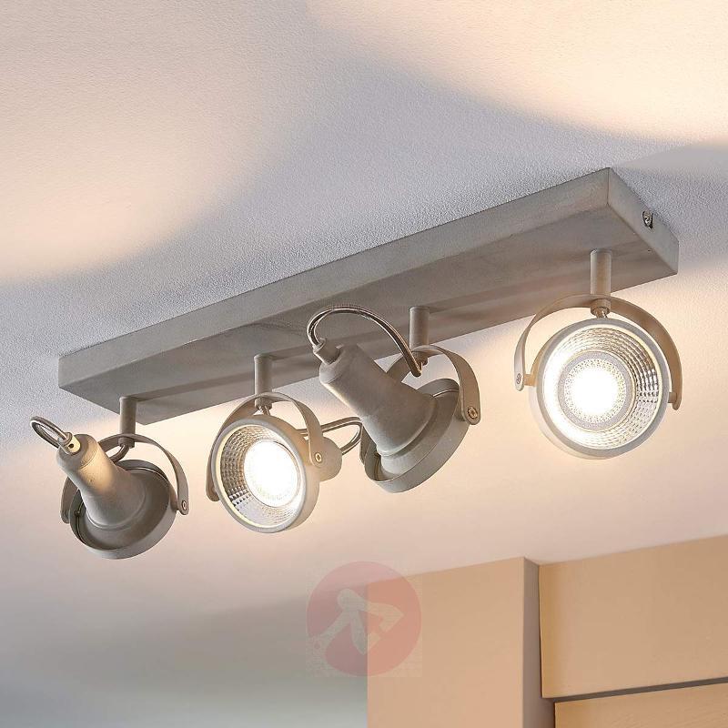 Oblong LED ceiling light Pieter, GU10 - Ceiling Lights