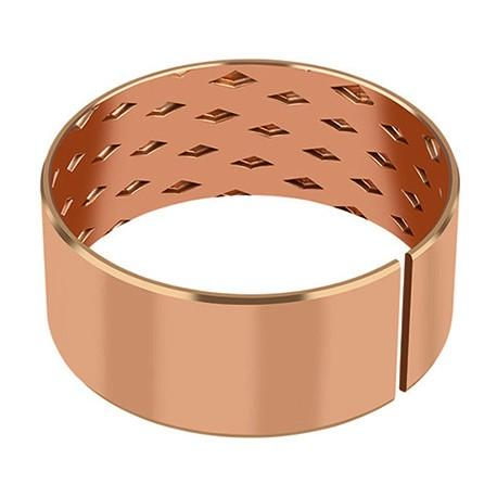 Bronze Bearings made of CuSn8 with Lubrication Indents - MBZ-B09