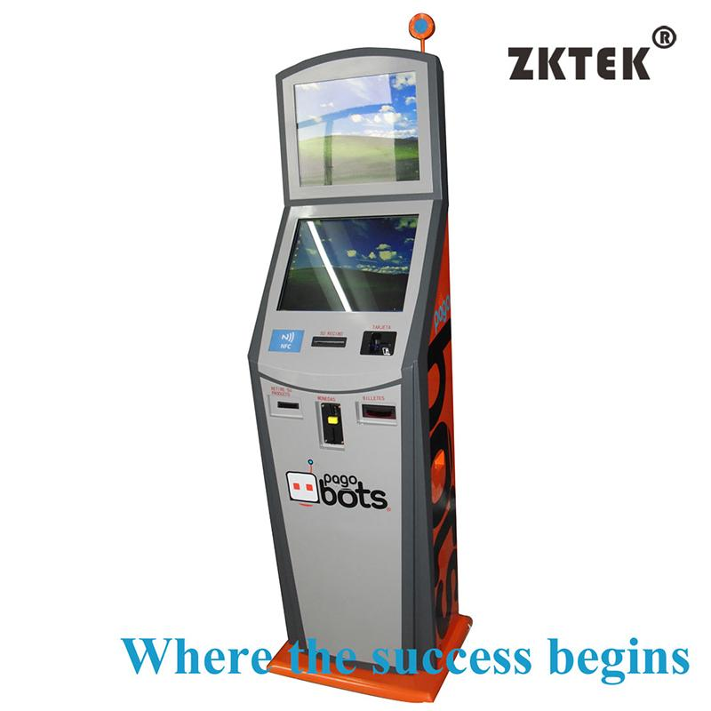HD29 dualscreen payment and ticketing touchscreen kiosk for