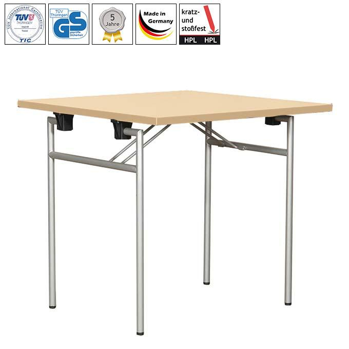 Folding table Quadro with HPL table top - Small folding tables  | GS-tested
