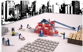 Вибропресс для производства разные и качественные брусчатки - Полуавтоматическая Машина Prs 802 Мини Завод  Для Производства Тротуарной Плитки