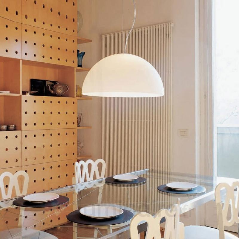 Suspension Sonora en verre opale - Cuisine et salle à manger