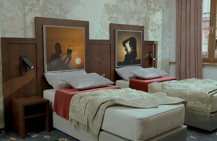 """Hotelmöbel-System """"Art-Design"""" - Art Kopfpaneel. Unsere exklusiven Designermöbel Ihrem Hotels."""