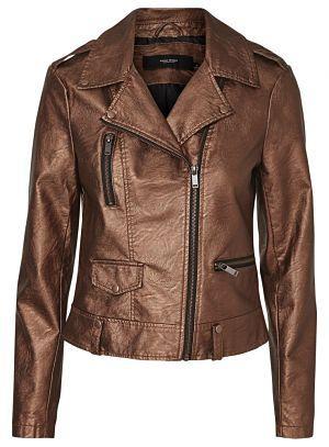 Chaqueta corta metálica de Vero Moda - Colores metalizados marrón, gris t negro