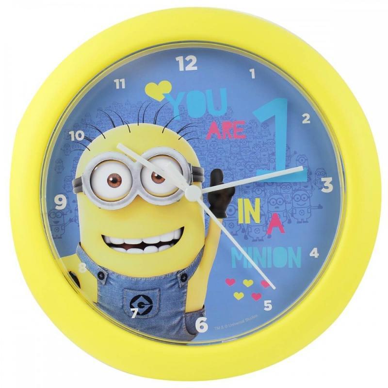 6x Horloges murale Minions 25.5x3.5 - Mobilier