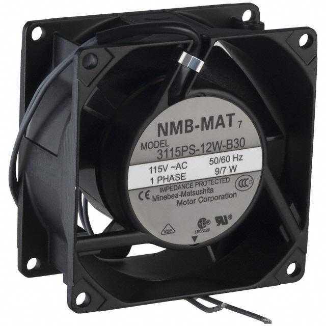 FAN AXIAL 80X38MM 115VAC WIRE - NMB Technologies Corporation 3115PS-12W-B30-A00
