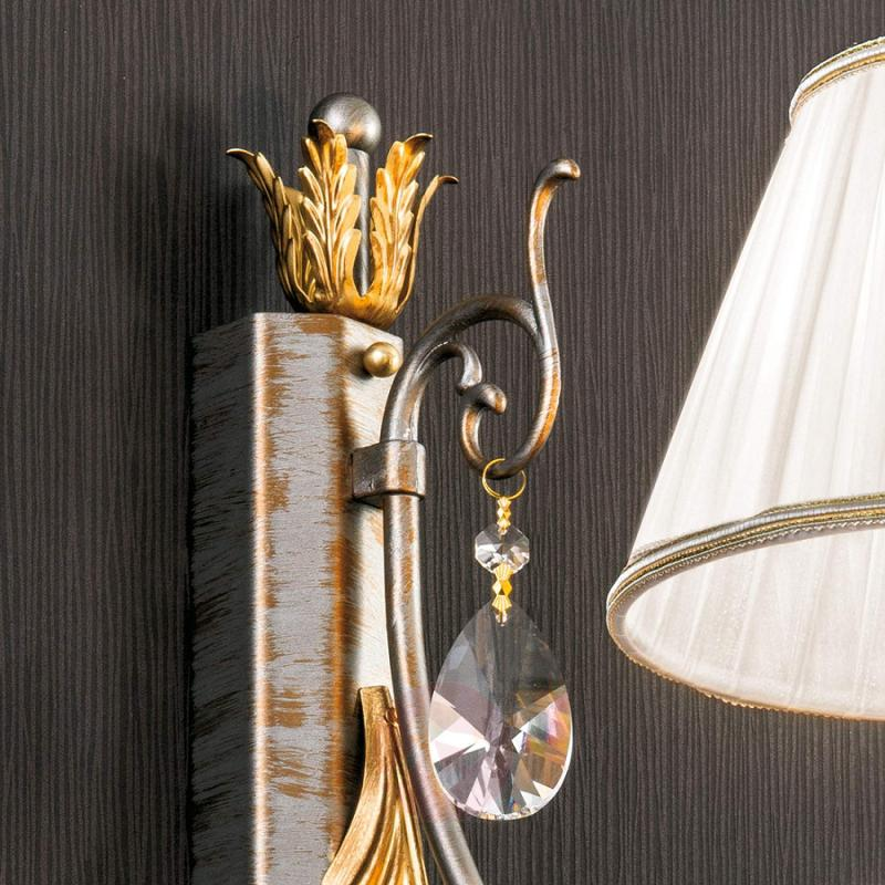 Wall light Miramare with crystals elements - design-hotel-lighting