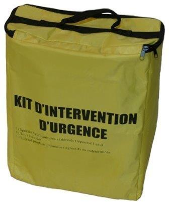 Kit absorbant hydrocarbure 22 litres - KH22 - Kit anti-pollution absorbant