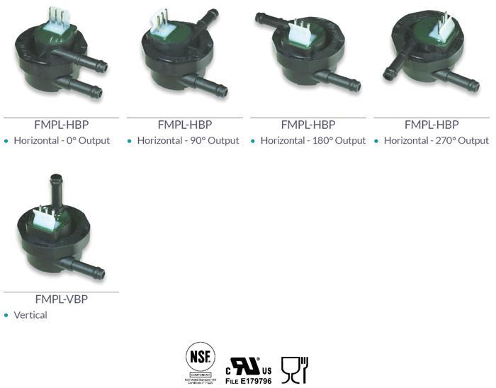 Modelli plastici bassa pressione - CONTATORI VOLUMETRICI