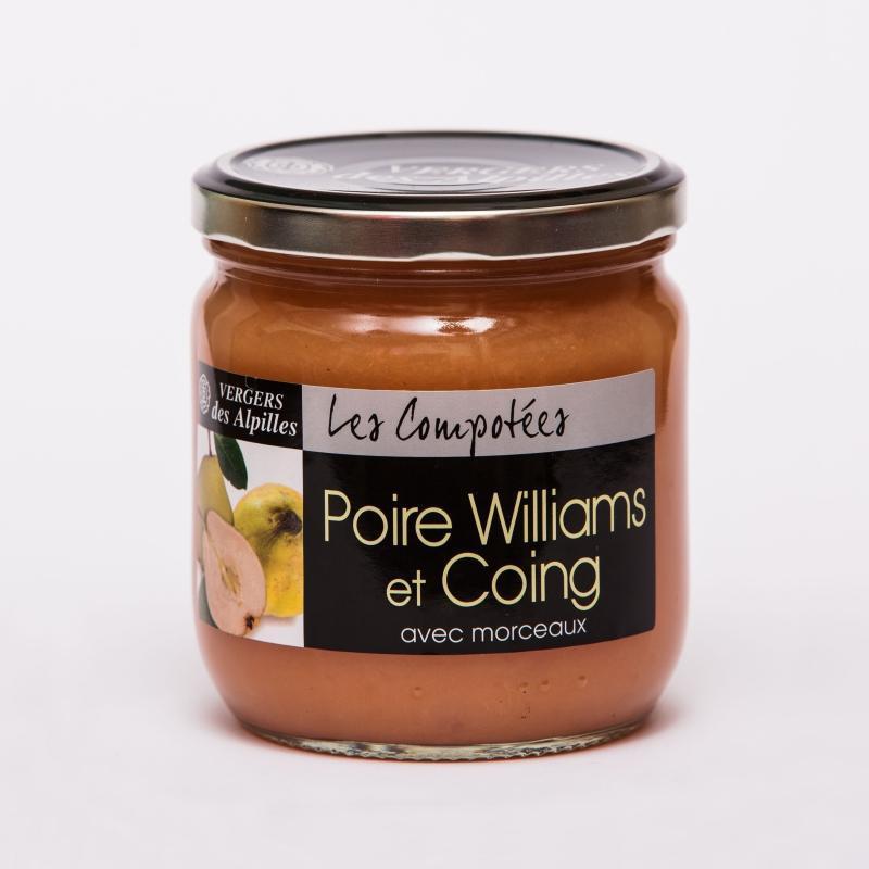 Les Compotées - Poire Williams / Coing - Compotes de fruits PREMIUM avec morceaux