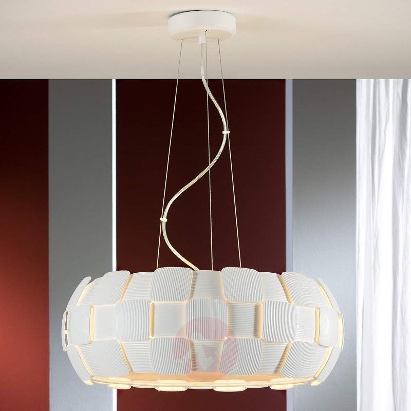 Contemporary hanging light Quios in white - Pendant Lighting