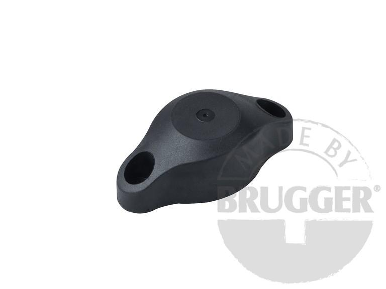 Magnetic door catch with rubber buffer, black - null